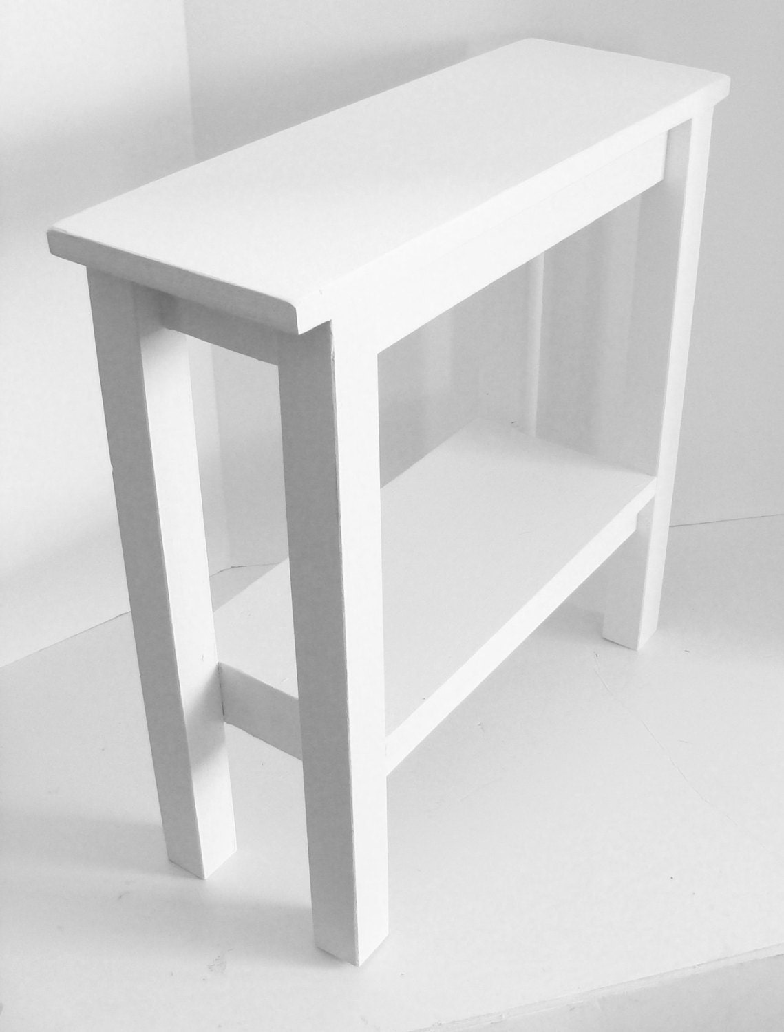 Modern narrow table end table side table narrow table for Tall white end table