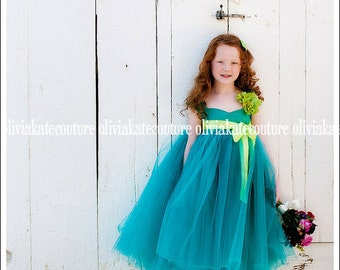 Flower Girl Dress Green