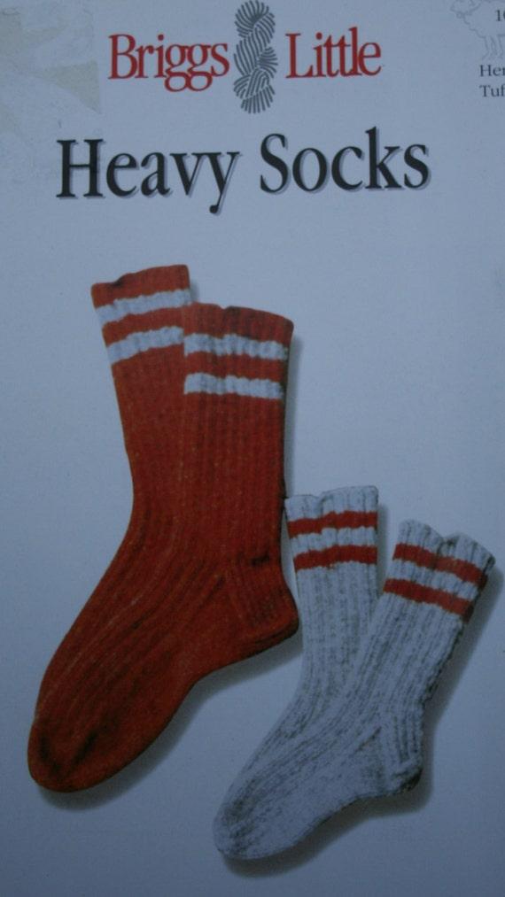 Heavy Socks Knitting Pattern Briggs Little 101