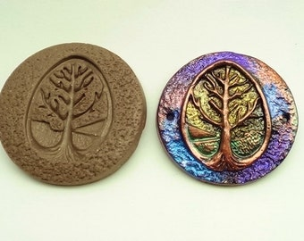 40mm Tree of Life cabochon or pendant mold - Polymer Clay