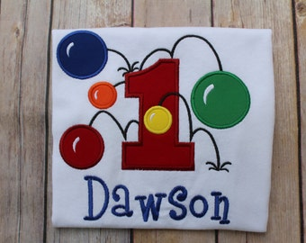 Custom Personalized  Bouncy Balls Birthday Ages 1-6 Long or SS  T shirt Boys Girls Photo Prop Gift