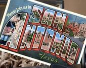 Vintage Large Letter Postcard Save the Date (San Antonio, Texas) - Design Fee
