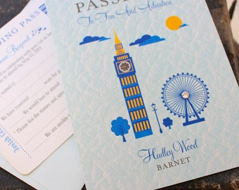 First Birthday Passport to London (Birthday Invitation)