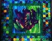 Quilted Patchwork Wall Art Parrot Tulip 38X40""