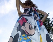 Mickey Mouse Maxi Sundress Minnie Festival Hippie Disney Cruise Resort Mom Party Long Dress Adult S M Ready to Ship