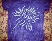 Sale! Batik Chrysnthemum Onesie- Size 6mths FREE SHIPPING