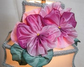 Pansy Lampshade With Handmade Ribbonwork