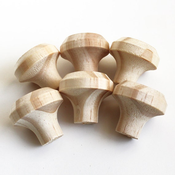 unfinished wooden knobs