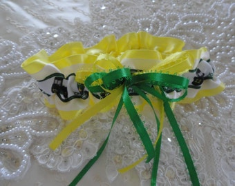 Green & Yellow John Deere Garter-Tractor-Farmer-Country-4H-FFA-Prom-1- Fits 14-18 inches