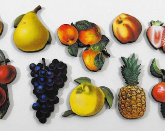 Fresh Fruit - Collection of 10 Wood Cuts