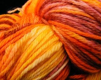 Handpainted Yarn SOLAR FLARE Superwash Merino Wool Nylon 274yds 3.5oz Sport Weight Hand Painted  Aspen Moon Arts