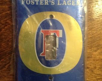 Fosters Beer Light Switch Plate Cover Free Ship Handmade