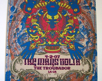 The Mars Volta Rare Variant TMV Psychedelic Egyptian Trippy - Troubadour Poster - Etsy