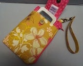Womens Wristlet Wallet or Small Bag with Smart Phone Pocket Bohemian Soul Fabric