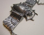 Serious Scarab in Silver