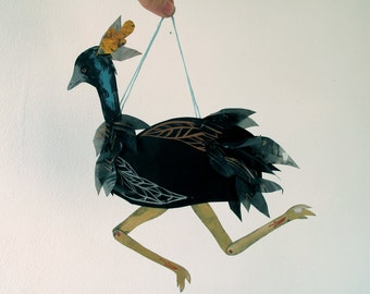 Emu Articulated Decoration  / Hinged Beasts Series