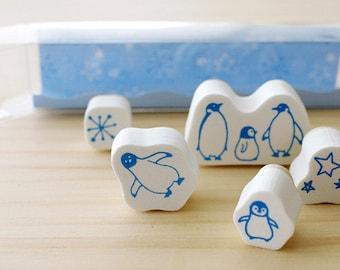 Penguin stamp set