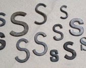 One Dozen Vintage Metal Letters For Art, Collage or Assemblage Letter S
