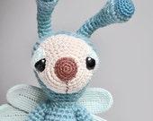 Doris the Sleepy Dragonfly - Crocheted - Plushie - Stuffed Toy - Amigurumi - Animal