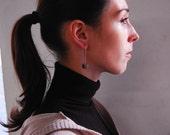 Cubic earrings - bronze, silver