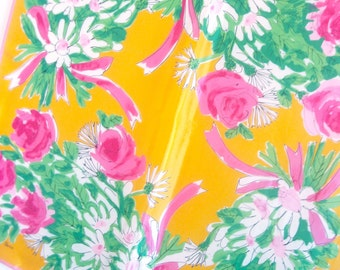 Joyful Watercolor - a vintage 1980's hand-painted Vera Neumann pure silk scarf -  tout soie - 29 inches