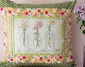 Vintage Bottle Bouquet Hand Embroidery Pattern Instant Digital Download