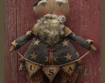 Primitive Uncle Sam Doll Epattern Sam I Am