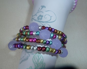 Comfy and Colorful Wrap Bracelet