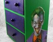 Custom Joker Green and Purple Stash Jewelry Box