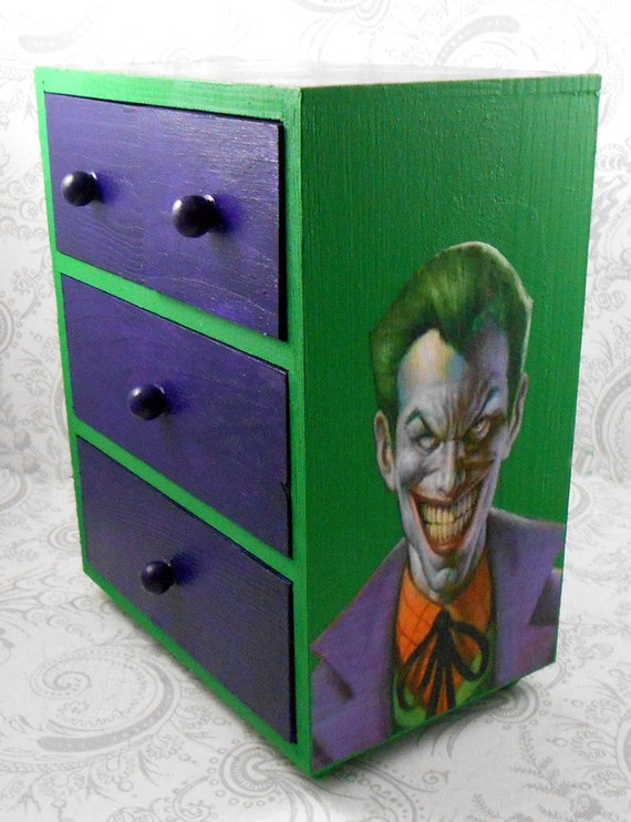 Items similar to custom joker green and purple stash for Harley quinn bedroom designs