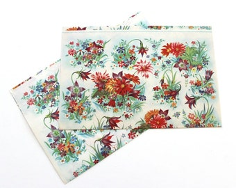 Vintage Colorful Flowers Wrapping Papers