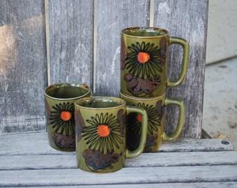 Vintage Mid Century Modern  Mugs (4)