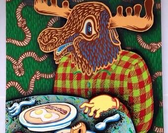 Moose breakfast and donut Crockett