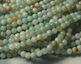 Amazonite (natural) round 4mm, 15-inch strand (item ID AR4mN)