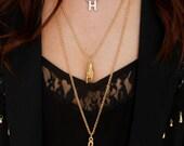 Vintage Music Clef Gold Long Pendant Necklace