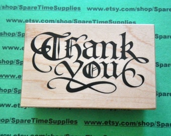 PSX-G1836 Thank You - Mounted Rubber Stamp