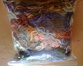 Cashmere and wool yarn scraps pieces for crafting