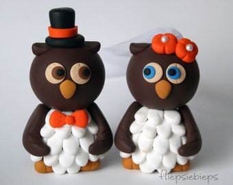 Custom Owl Wedding Cake Topper