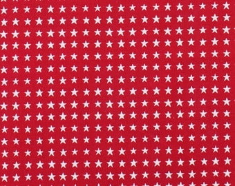 SALE - Liberty Star -  Fabric By Alexander Henry - Red - 1 Yard - 7.75 Dollars
