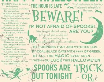 Witch Hazel Spell Green - Fabric By Riley Blake - One Yard - 9.95 Dollars