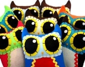 Custom Owl Mama - Eco-friendly Felt Plush Owl in Your Choice of Colours