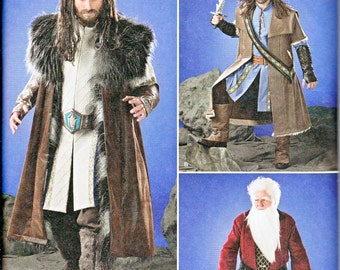 Simplicity 1552 Mens Medieval Fantasy Lord Rings Costume Tunic Cloak Sewing Pattern Sizes XS-XL New UNCUT