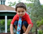 Little Boys, Superman Superhero Tie  Blue, Red, Yellow Toddler Cartoon Animated