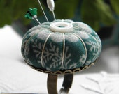 Jade Daisy Pincushion Ring