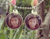 The Perfect Gift: Personalized double photo pendant - from artwork or photo