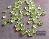 20 Peridot Faceted Rondelles (2.2-2.5mm), 20 Count Peridot Beads, Tiny Beauties, August Birthstone (L-Pe1)
