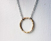 14k Gold Filled Circle Necklace