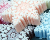 Bar Soap Handmade Snowflake Set Choose Your Scent: Great Gift or Stocking Stuffer