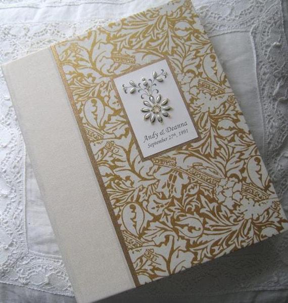 Personalised Wedding Photo Albums: Personalized Wedding Photo Album Ivory And Gold Album