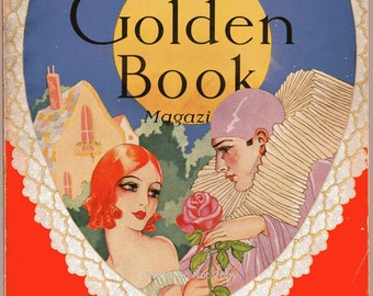 Golden Book Magazine with Cover Art by Irene Zimmerman February 1930, Vol. 11 No. 62 Complete Vintage Magazine